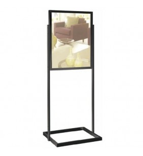 Chrome Rectangle Frame 28 x 22 Black