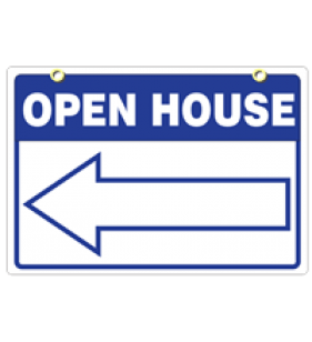 BLUE 18X24 GENERIC OPEN HOUSE SIGN