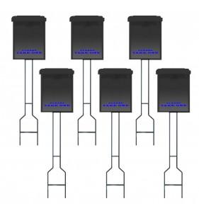 BLACK BOX, BLACK STK, BLUE LETTERING