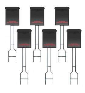 BLACK BOX, BLACK STK, RED LETTERING