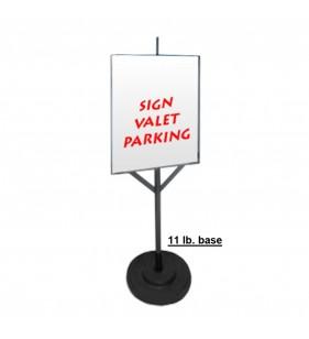 VALET FRAME 24X18 VERTICAL W-11LBS BASE