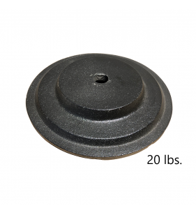 20 lb PEDESTAL BASE BLACK