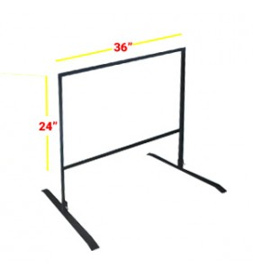 GAS STATION FRAME 24 X 36 BLACK
