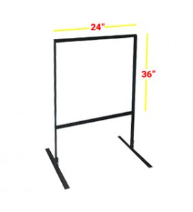 GAS STATION FRAME 36 X 24 BLACK