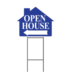 OPEN HOUSE SIGN W-FRAME BLUE