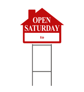 OPEN SAT._TO_  SIGN W-FRAME RED