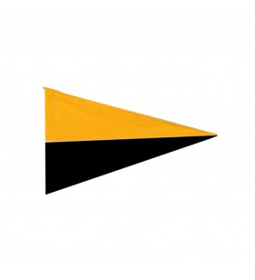 TWO COLOR NYLON FLAG (GOLD & BLACK)