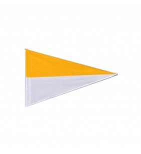 TWO COLOR NYLON FLAG (GOLD & WHITE)