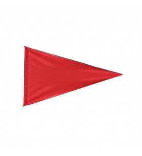 SOLID COLOR RED NYLON FLAG