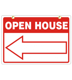 RED 18X24 GENERIC OPEN HOUSE SIGN