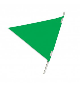 PLASTICLOTH PENNANT 18X24 GREEN
