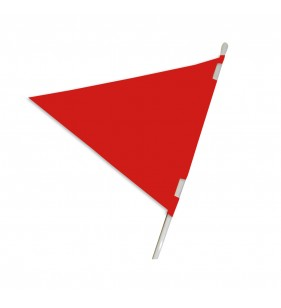 PLASTICLOTH PENNANT 18X24 RED