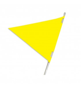 PLASTICLOTH PENNANT 18X24 YELLOW