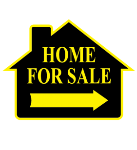 HOME 4 SALE SIGN ONLY BLK-YELLOW
